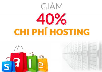 Giảm 40% chi phí hosting